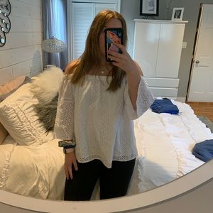 A&F off the shoulder long sleeve